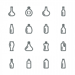 Bottle Silhouette Icons | Set 3