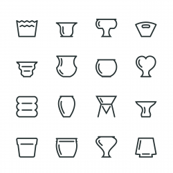 Pot Silhouette Icons