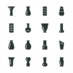 Vase Silhouette Icons