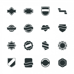 Label Silhouette Icons | Set 5