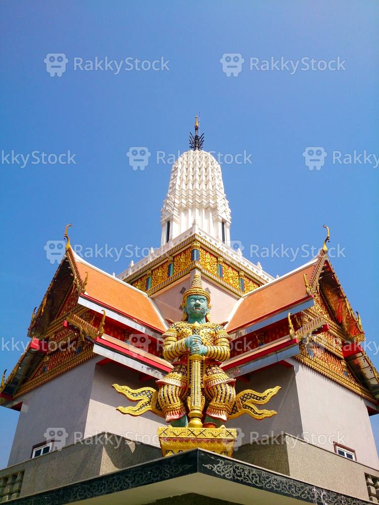 Temple Decoration With Giant