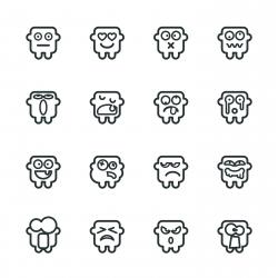Silhouette Emoticons | Set 9