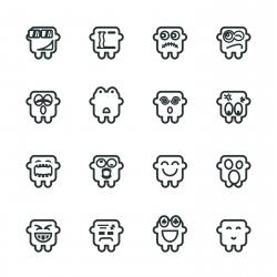 Silhouette Emoticons | Set 10