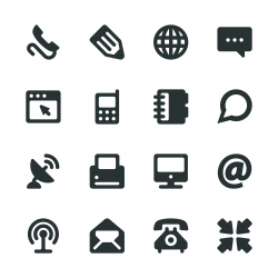 Communication Silhouette Icons