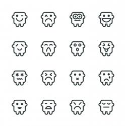 Silhouette Emoticons | Set 11