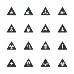 Hazard Silhouette Icons