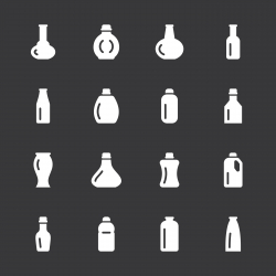 Bottles Icons Set 4 - White Series