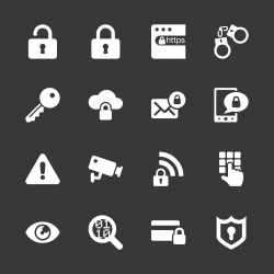 Security Icons - White Series