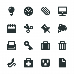 Office Silhouette Icons
