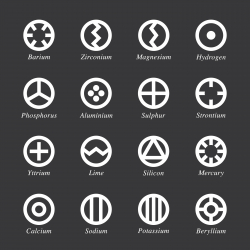 Chemical Element Icons Set 1 - White Series