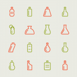 Bottle Icons Set 4 - Color Series