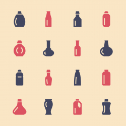 Bottles Icons Set 4 - Color Series