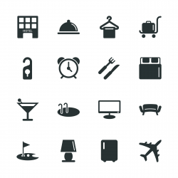Hotel Silhouette Icons