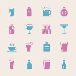 Beverage Icons Set 2 - Color Series