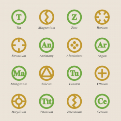 Chemical Element Icons Set 3 - Color Series