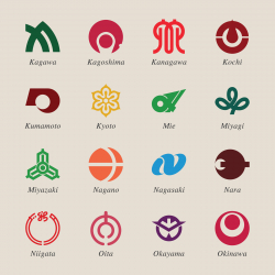 Japanese Prefectures Icons Set 2 - Color Series