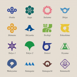 Japanese Prefectures Icons Set 3 - Color Series