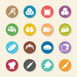 Bakery Icons - Color Circle Series
