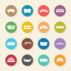 Sofa Design Icons - Color Circle Series