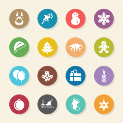 Christmas Icons - Color Circle Series