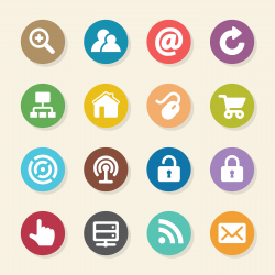 Internet and web Icons Set 1 - Color Circle Series