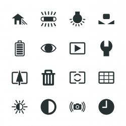 Camera Menu Silhouette Icons | Set 2