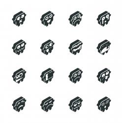 Silhouette Emoticons   Set 5