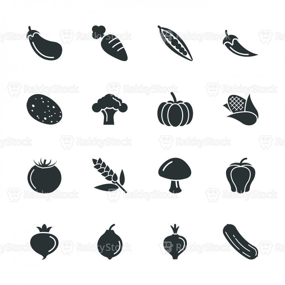 Vegetable Silhouette Icons