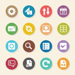 Web Developer Tool Icons - Color Circle Series