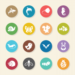 Animal Icons - Color Circle Series