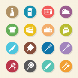 Cooking Icons - Color Circle Series