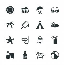 Summer Season Silhouette Icons