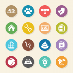 Pet Icons - Color Circle Series