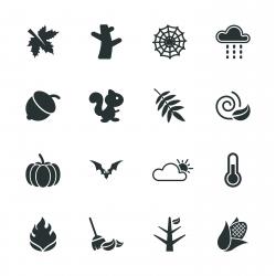 Autumn Season Silhouette Icons