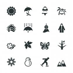 All Season Silhouette Icons | Set 1