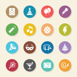 Party Icons - Color Circle Series