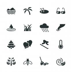 All Season Silhouette Icons | Set 2