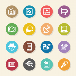 Reporter Icons - Color Circle Series