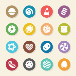 Candy Icons Set 2 - Color Circle Series