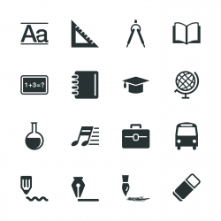 Education Silhouette Icons