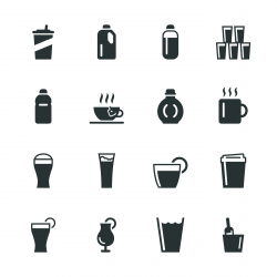 Beverage Silhouette Icons | Set 4