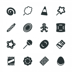 Candy Silhouette Icons | Set 3