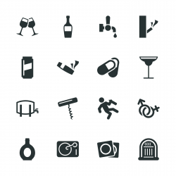 Drunk Party Silhouette Icons | Set 2