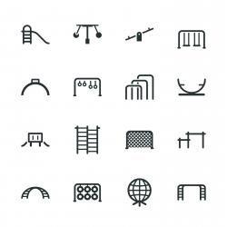 Playground Silhouette Icons | Set 2