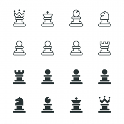 Chess Silhouette Icons