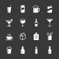 Beverage Icons Set 3 - White Series