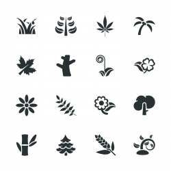 Plant Silhouette Icons