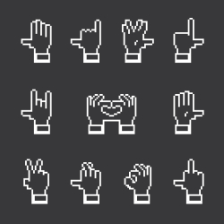 Hand Gestures Icons - White Series