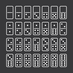 Dominoes Icons Set 1 - White Series