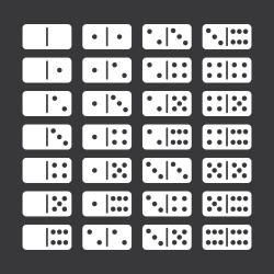 Dominoes Icons Set 2 - White Series